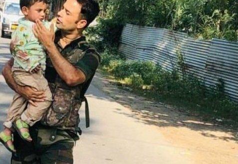 Toddler rescued after watching grandad die in Kashmir terror strike