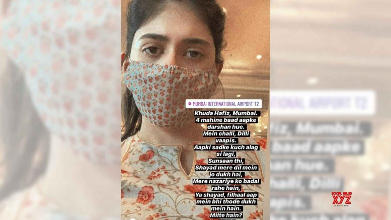 Sushant's 'Dil Bechara' co-star Sanjana pens cryptic ode to Mumbai