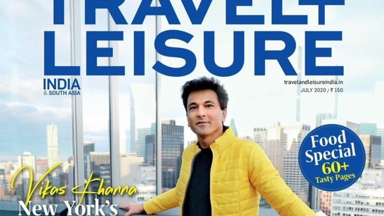 ​Vikas Khanna On Travel Plus Leisure Cover Page