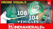 VCR Multiplex: Drone Visuals Of 108 And 104 Vehicles Inaugurated By CM YS Jagan (Video)