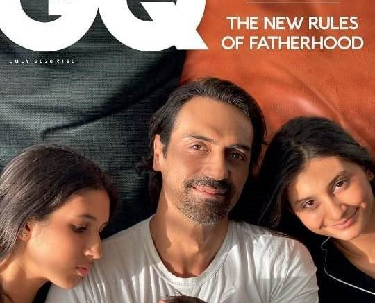 Arjun Rampal Along With His Kids On GQ India Cover