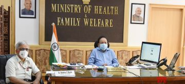 New Delhi: Union Health & Family Welfare, Science & Technology and Earth Sciences Minister Harsh Vardhan launches the Drug Discovery Hackathon through video conferencing, in New Delhi on July 2, 2020. Also seen Council of Scientific & Industrial Research (CSIR) DG Shekhar C Mande. (Photo: IANS/PIB)