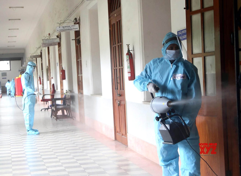 Bengaluru: Covid - hit K'taka secretariat partly shut for sanitising #Gallery