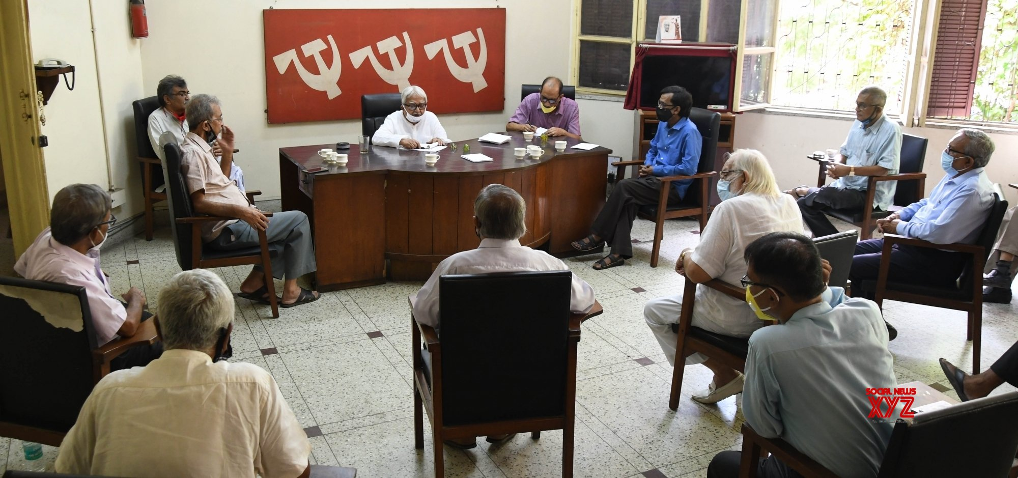 Kolkata: Biman Bose chairs meeting with 16 Left - wing parties #Gallery