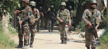 Srinagar: Army personnel conduct a cordon and search operation after two terrorists were killed in an encounter with the security forces at Ranbirgarh Panzinara on the outskirts of Srinagar on July 25, 2020. (Photo: IANS)