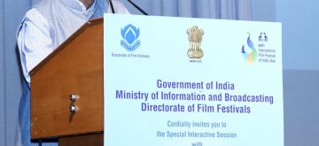 New Delhi: Ministry of Information and Broadcasting (I&B) Secretary Amit Khare addresses during a Special Interactive Session organised by the I&B Ministry, in New Delhi on May 28, 2019. (Photo: IANS/PIB)