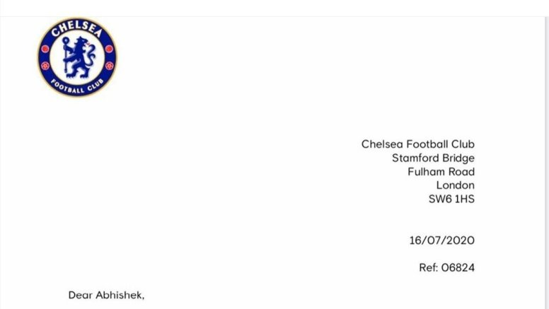 Abhishek Bachchan shares letter from Chelsea footballer Cesar Azpilicueta
