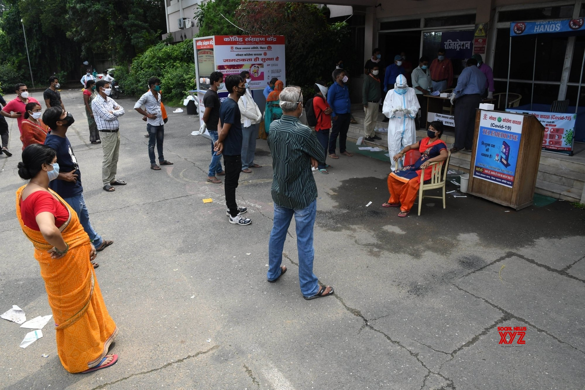 Patna: Samples collected for COVID - 19 testing at Patliputra Ashok Hotel isolation centre #Gallery