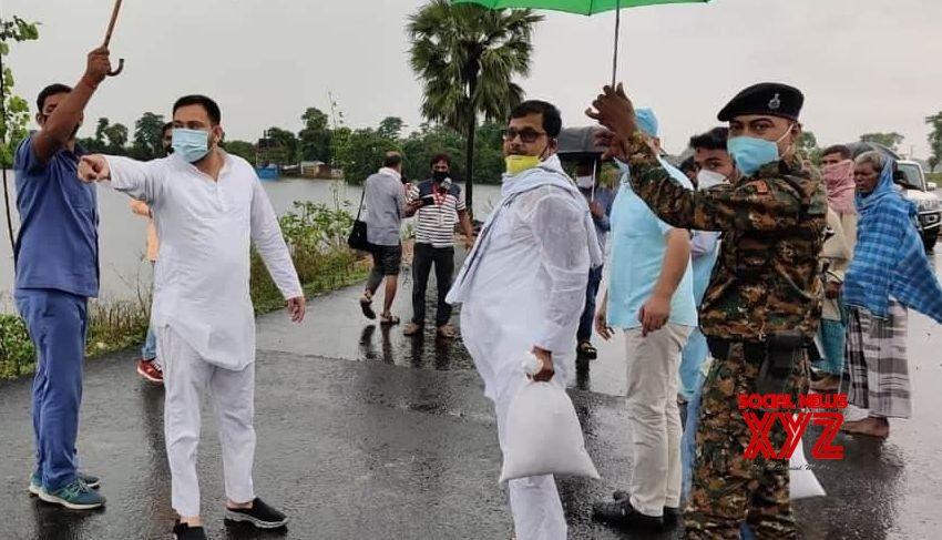 Patna: Tejashwi Yadav visits flood - affected areas of Bihar #Gallery
