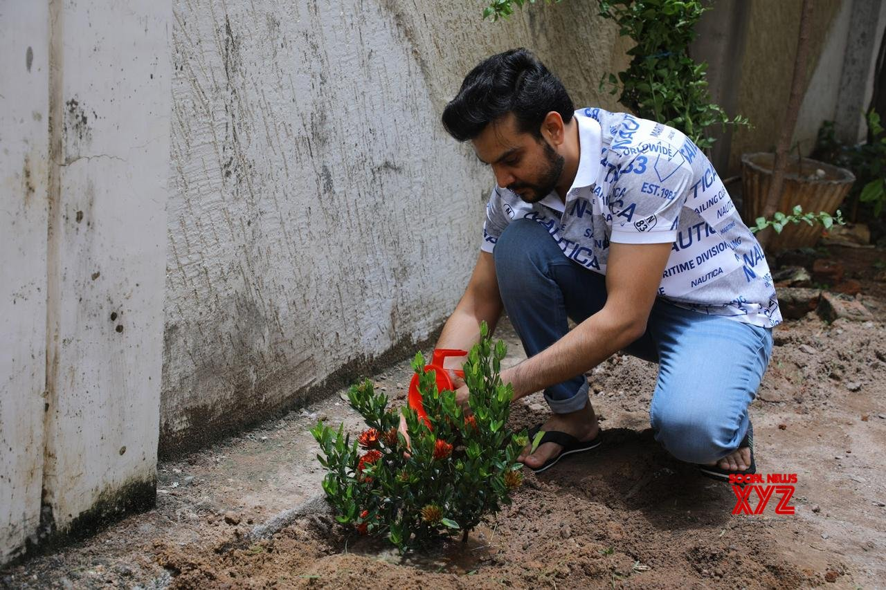 22 Movie Hero Rupesh Kumar Choudhary Planted A Sapling In His Garden On The Occasion Of His Birthday Today - Gallery