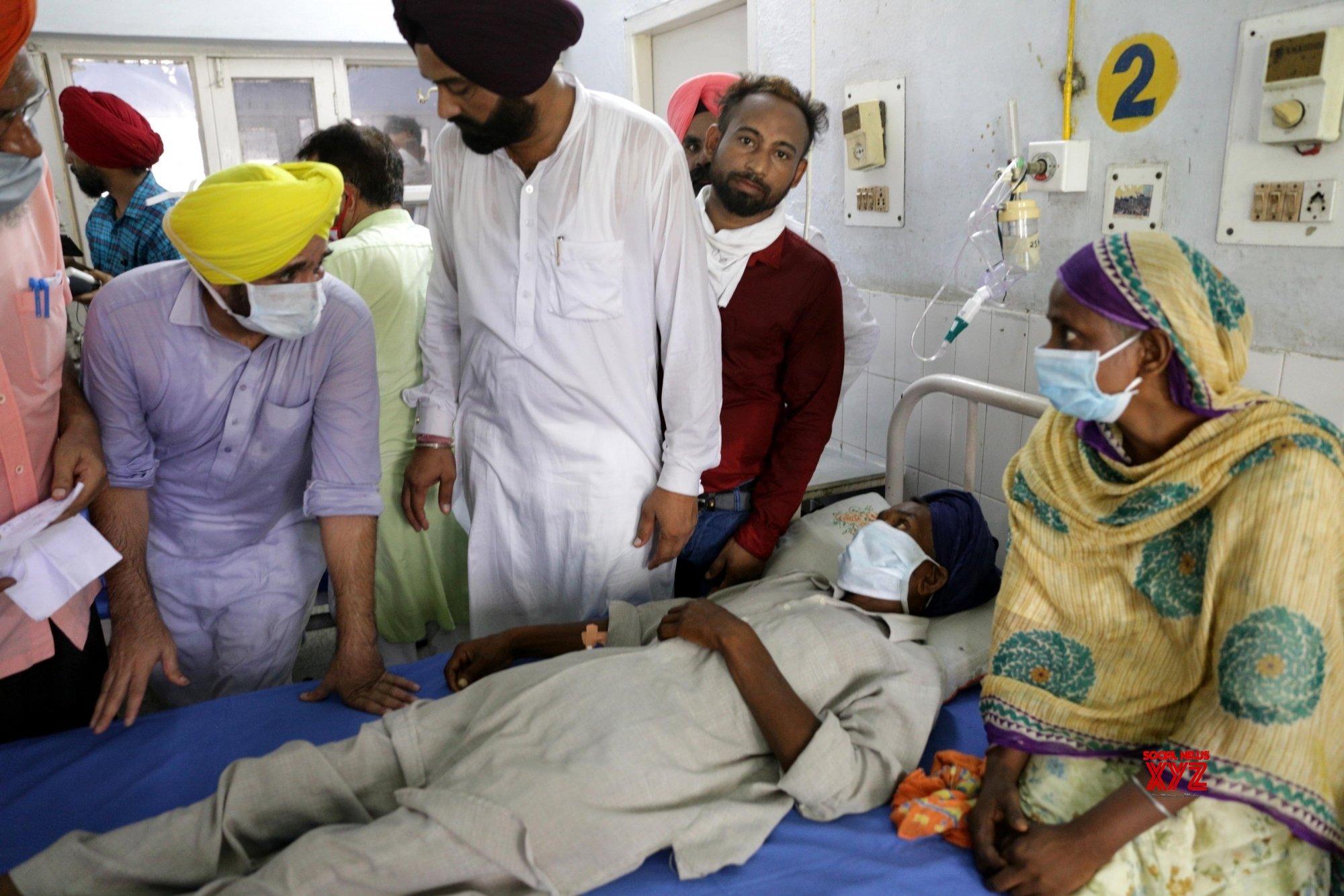 Amritsar: Hooch tragedy: Bhagwant Mann meets victims at Tarn Taran hospital #Gallery