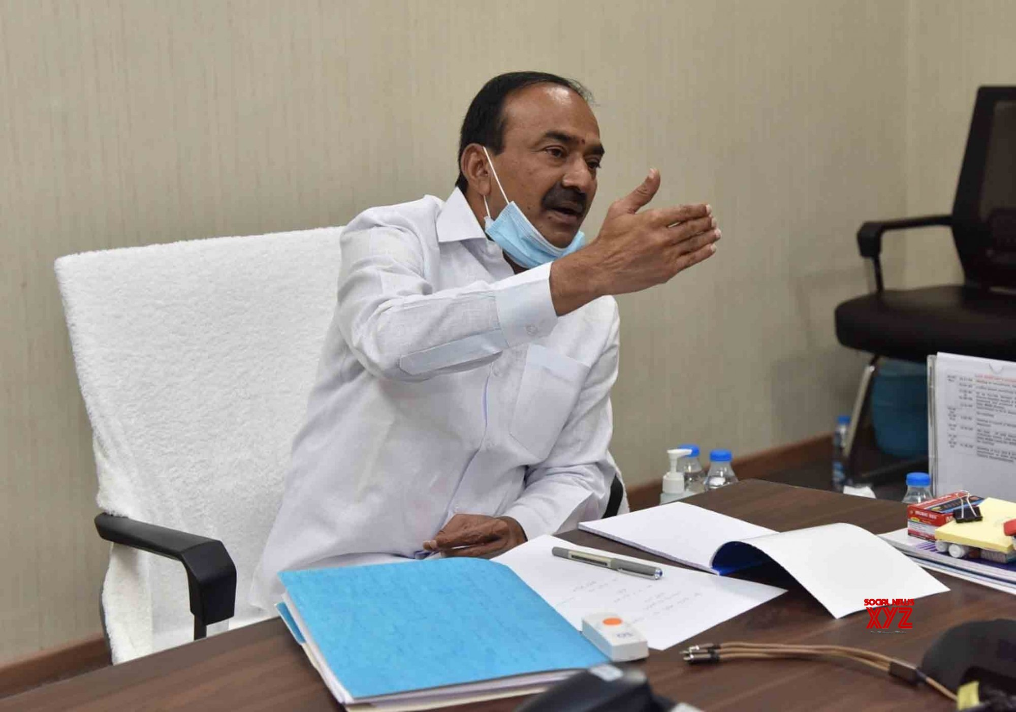 Hyderabad: Etela Rajender holds review meeting on COVD - 19 #Gallery