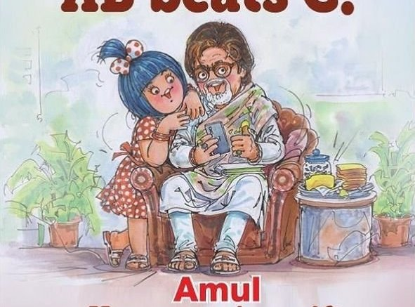 Big B gets a special Amul ad tribute on beating Covid