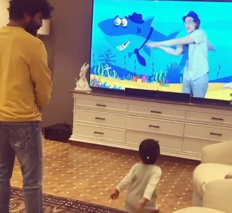 Ram Charan has a dance-off with toddler niece