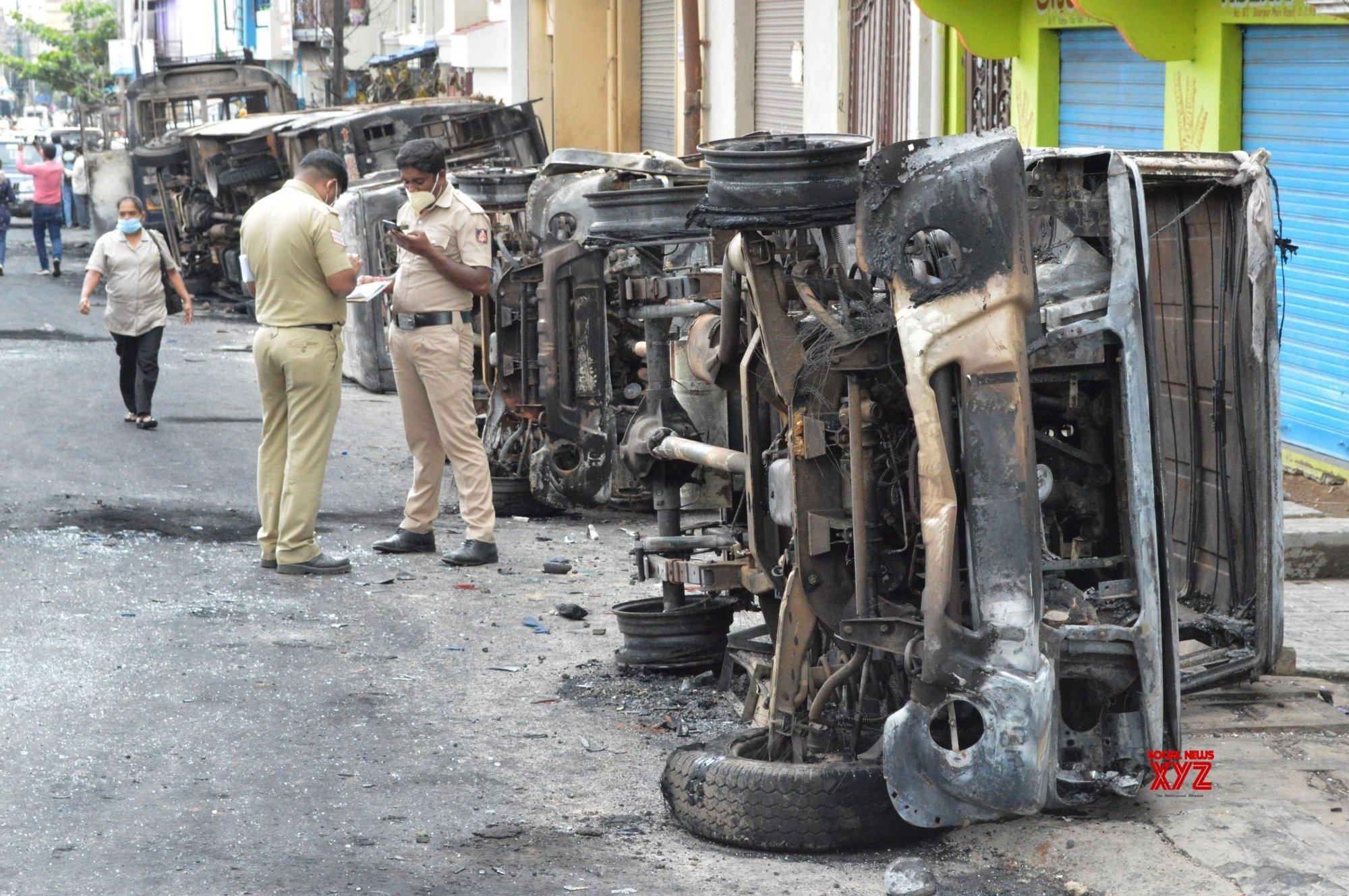 Bengaluru: 3 dead in B'luru, 100 arrested for rioting over FB post #Gallery