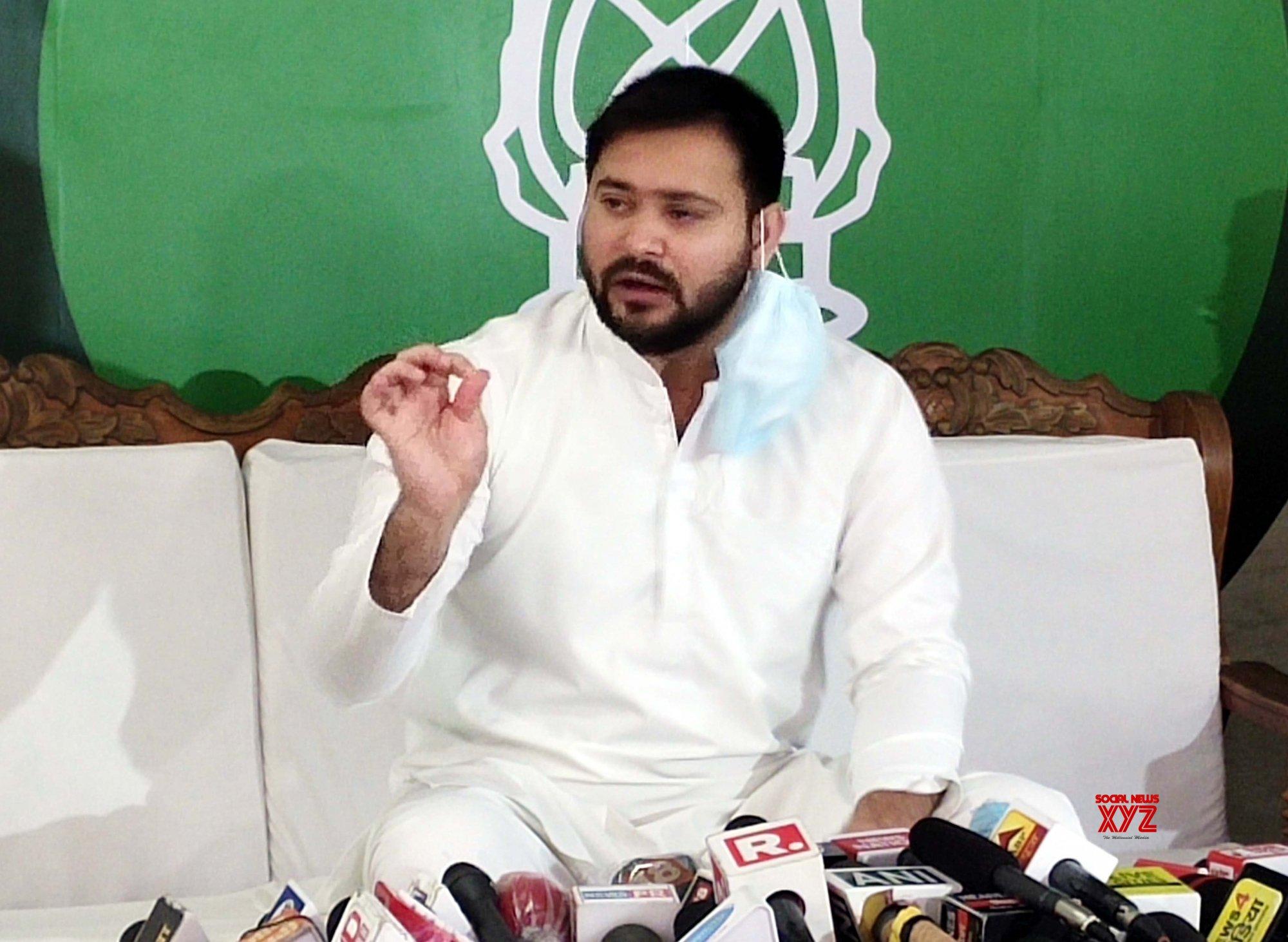 Patna: Tejashwi Yadav's press conference #Gallery