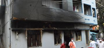 Bengaluru: Congress legislator Akanda Srinivas Murthy's property that was attacked and vandalised by an irate mob during violence that erupted late on Tuesday night over an inflammatory social media post by the politician's relative, in parts of East Bengaluru, on Aug 12, 2020. Three people have reportedly died and several others injured in the arson. Over 100 rioters have been arrested. (Photo: IANS)