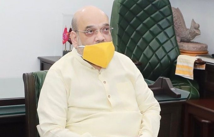 Home Minister Amit Shah arrives in Chennai