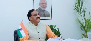 New Delhi: Union Education Minister Ramesh Pokhriyal 'Nishank' participates in the online ARIIA-2020 (Atal Ranking of Institutions on Innovation Achievements) Awards Ceremony, through Video Conferencing, in New Delhi on Aug 18, 2020. (Photo: IANS/PIB)