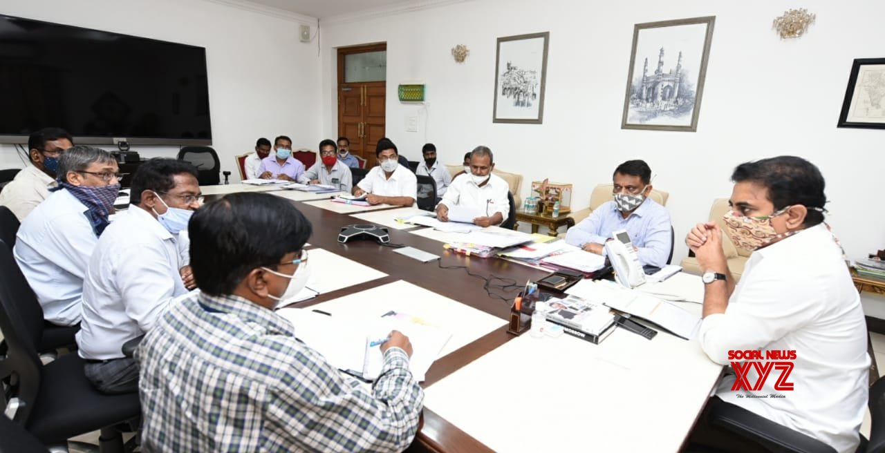 Hyderabad: KT Rama Rao chairs review meeting on Mission Bhagiratha #Gallery