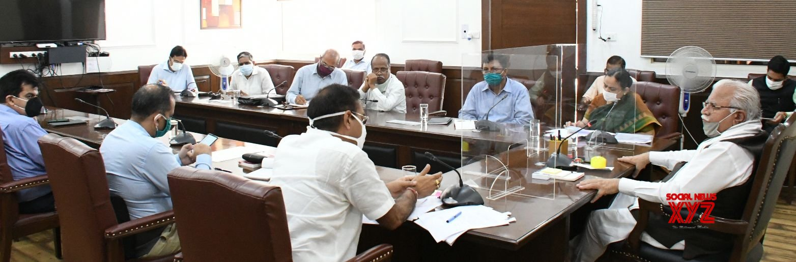 Chandigarh: Manohar Lal Khattar chairs high - level meeting of senior officers of various departments #Gallery