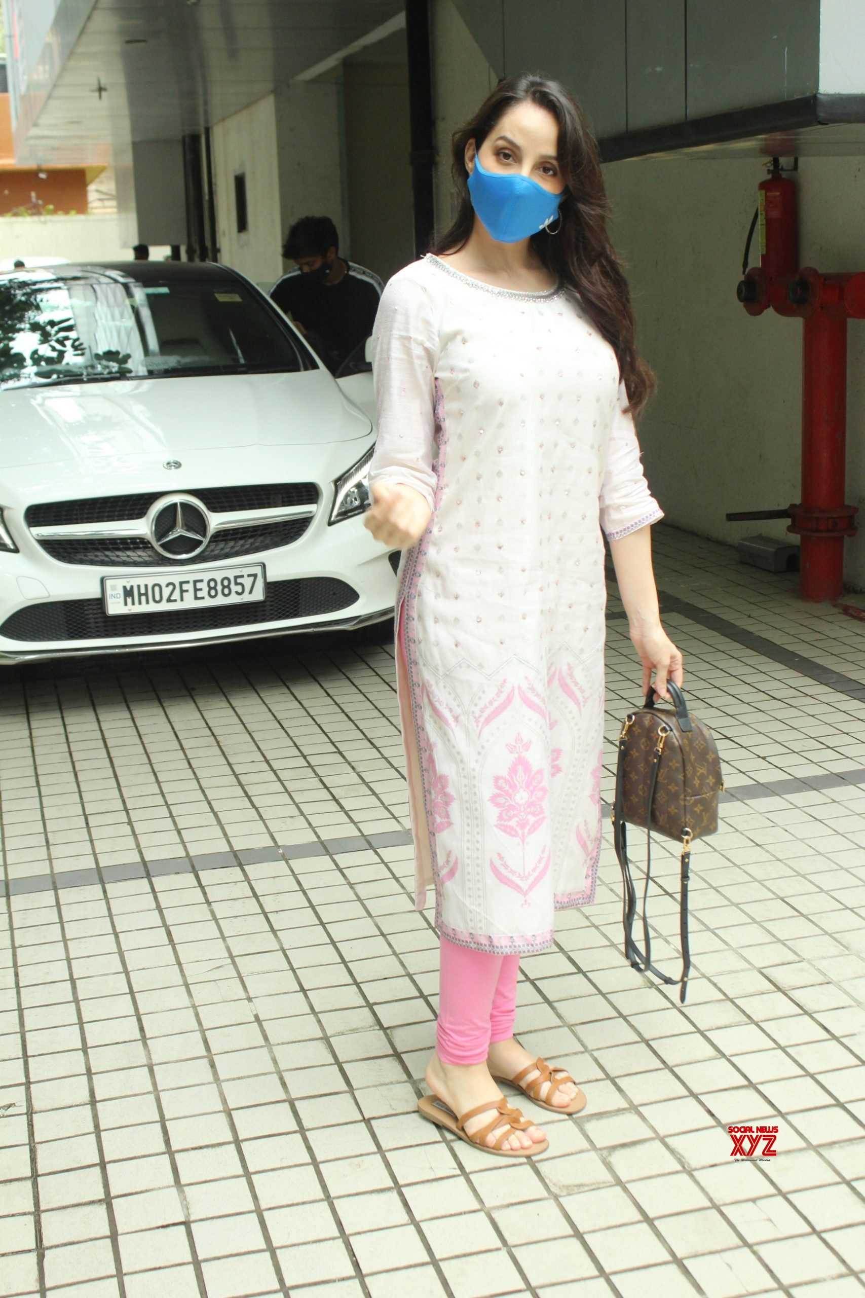 Actress Nora Fatehi Spotted At T Series Office In Andheri Gallery
