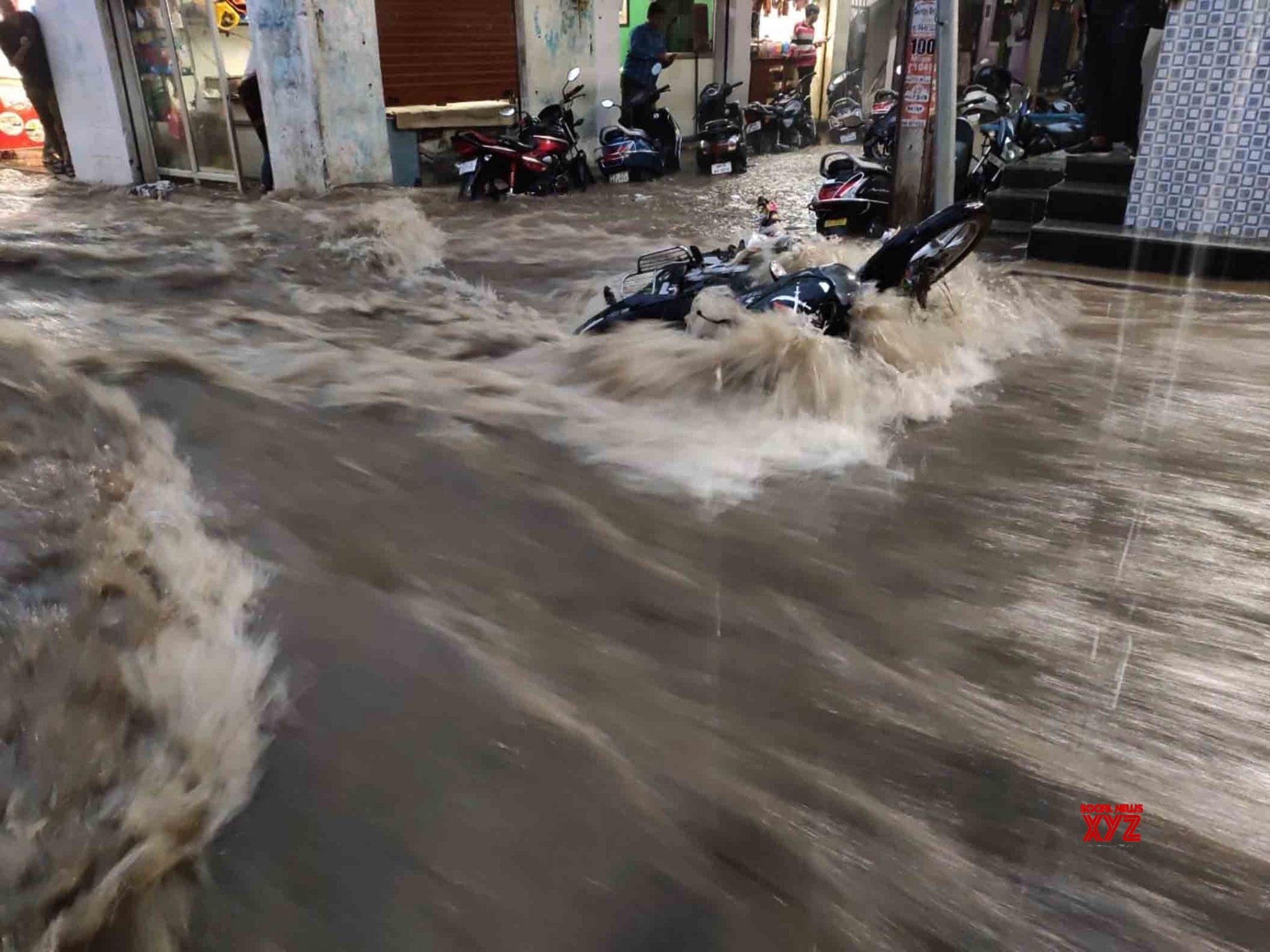 Hyderabad: Waterlogging at Hakimpet after heavy rains #Gallery