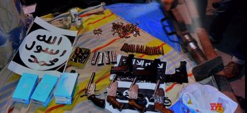 """New Delhi: Arms and ammunition recovered by the National Investigation Agency (NIA) from a group of 16 persons, nabbed by the agency including a group leader of a newly-traced Islamic State module """"Harkat-ul-Harb-e-Islam"""" that was allegedly planning attacks in north India, especially Delhi, following raids conducted at 17 places here and in Uttar Pradesh; in New Delhi on Dec 23, 2018. The agency recovered a country-made rocket launcher, 12 pistols, 120 alarm clocks, 100 mobile phone, 135 SIM cards, many laptops and various electronic gadgets, besides 150 rounds of ammunition. (Photo: IANS)"""