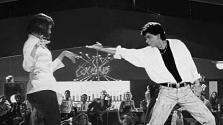 Mahira Khan Shares A Quirky Meme Of Shahrukh Khan With Uma Thurman
