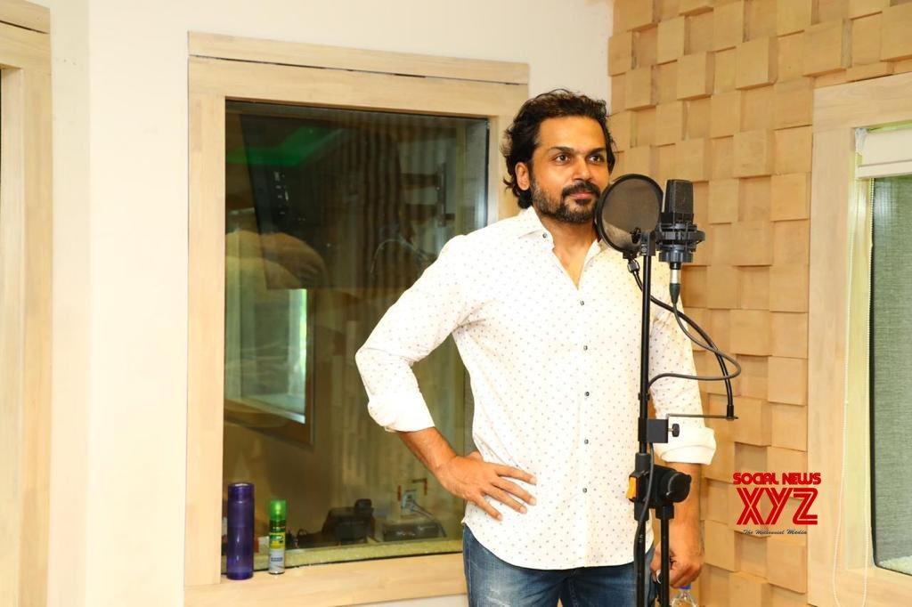 Karthi's Sulthan Movie Dubbing Stills