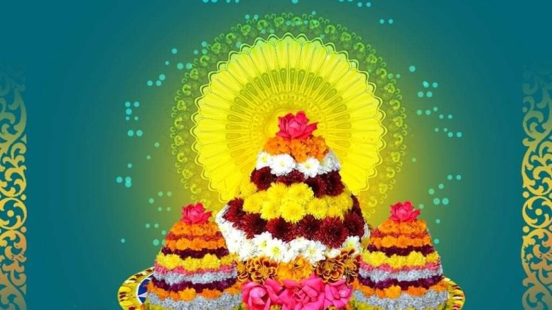 Telangana CM, Governor extend 'Bathukamma' greetings