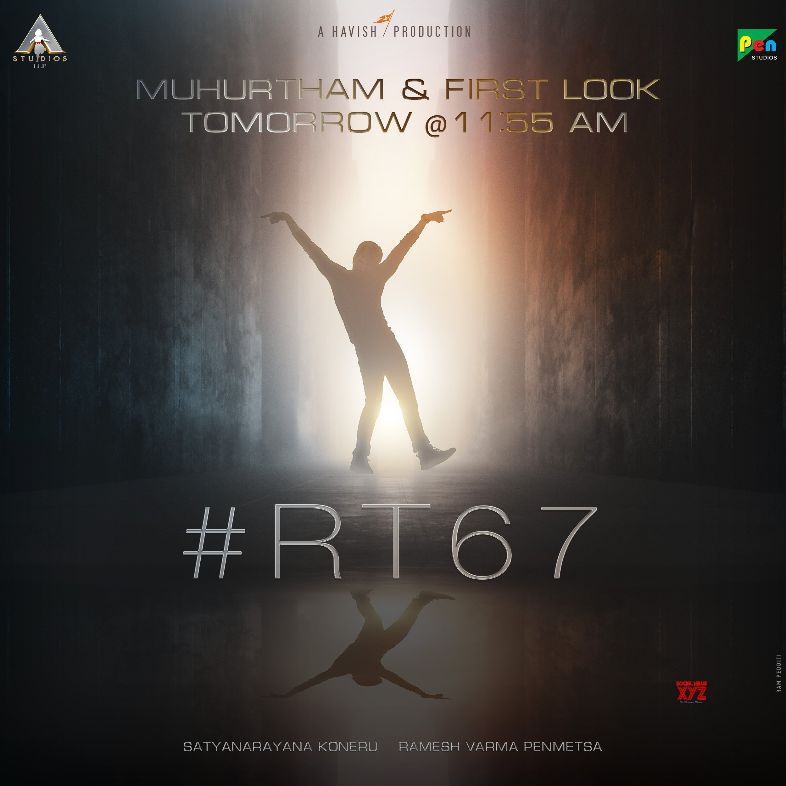 Ravi Teja, Ramesh Varma, Satyanarayana Koneru Film Pre Look Out