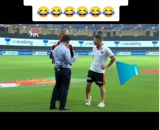 So embarrassing: Warner caught farting on live interview