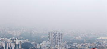 Chennai: Mist engulfs Chennai in the morning hours on Oct 27, 2020. (Photo: IANS)