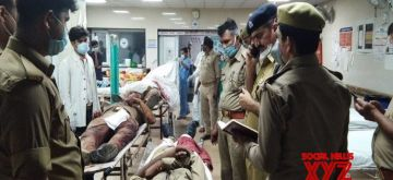 Kanpur: Two criminals, purportedly belonging to the Vikas Dubey gang that shot dead eight police personnel early on Friday, have been shot dead by the police, hours after the incident, in Kanpur on July 3, 2020. A firearm that had been looted by the assailants from the police, has been recovered from them which substantiates the fact that they belonged to the Dubey gang. The encounter took place in Kanshi Ram Nivada village. (Photo: IANS)