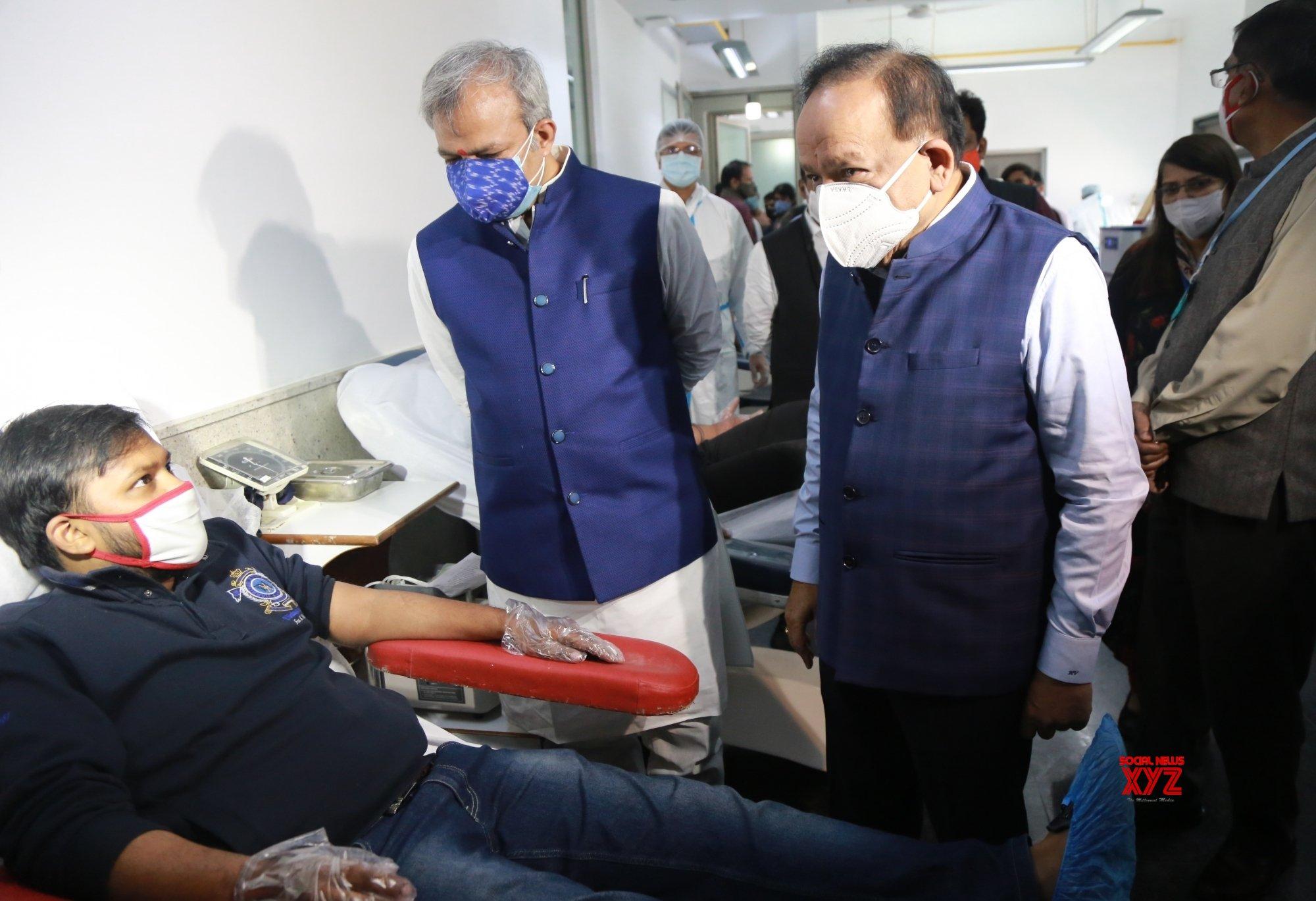 New Delhi: BJP Yuva Morcha organises blood donation camp for Corona warriors at the Indian Red Cross Society #Gallery