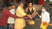 Tanikella Bharani Felicitated Sonu Sood On The Sets Of Acharya   MS Entertainments  (Video)