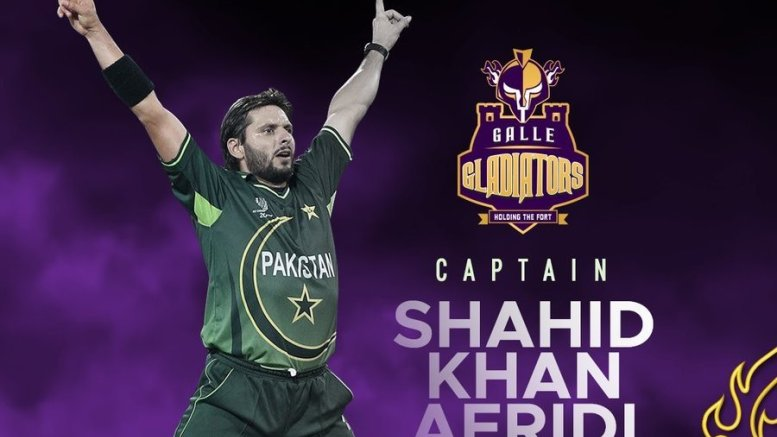Shahid Afridi to lead Galle Gladiators in LPL