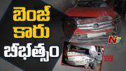 NTV:  Benz Car hits Private Cab at Banjara Hills Road no 3 (Video)
