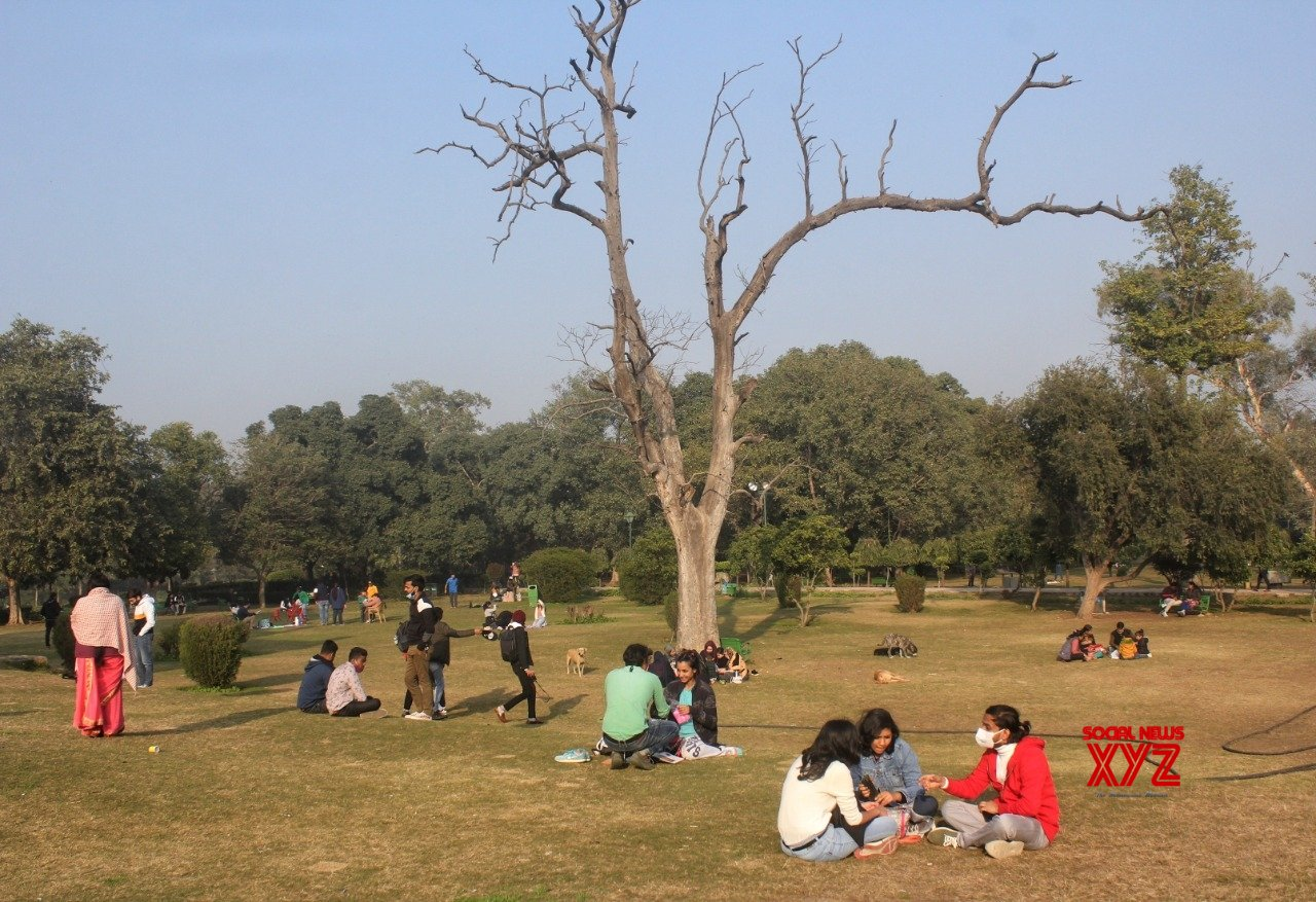 New Delhi: People enjoy during cold weather at Lodhi Garden in New Delhi #Gallery