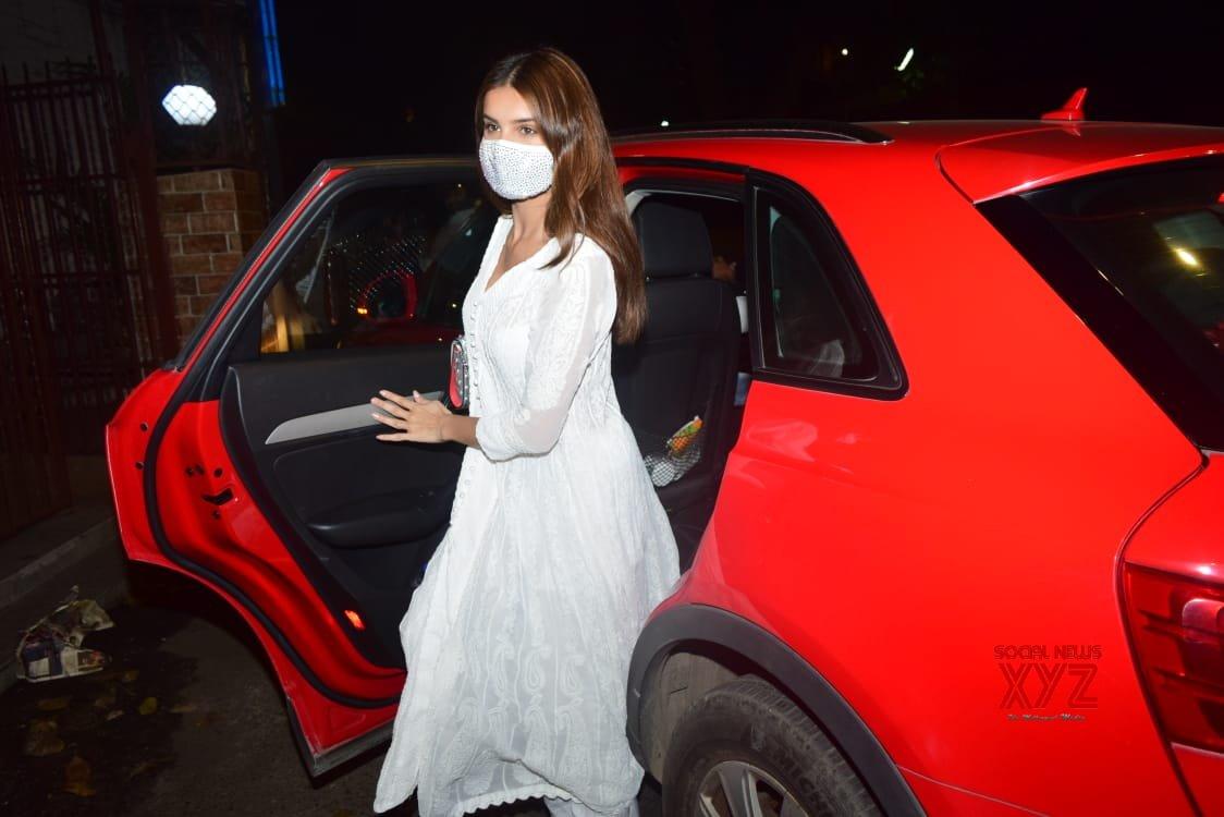 Actress Tara Sutaria Spotted Dubbing Studio Bandra