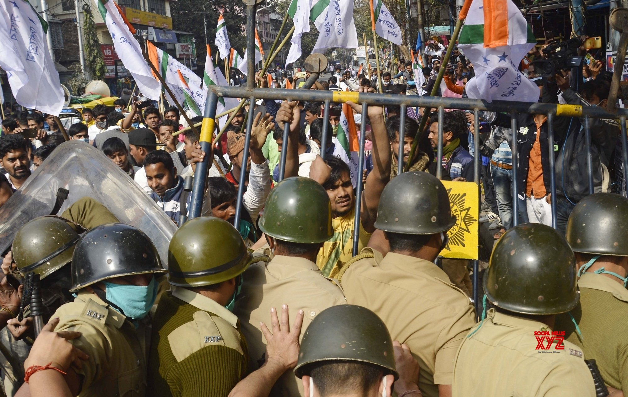 Kolkata: - Police detains National Students Union of India activists #Gallery