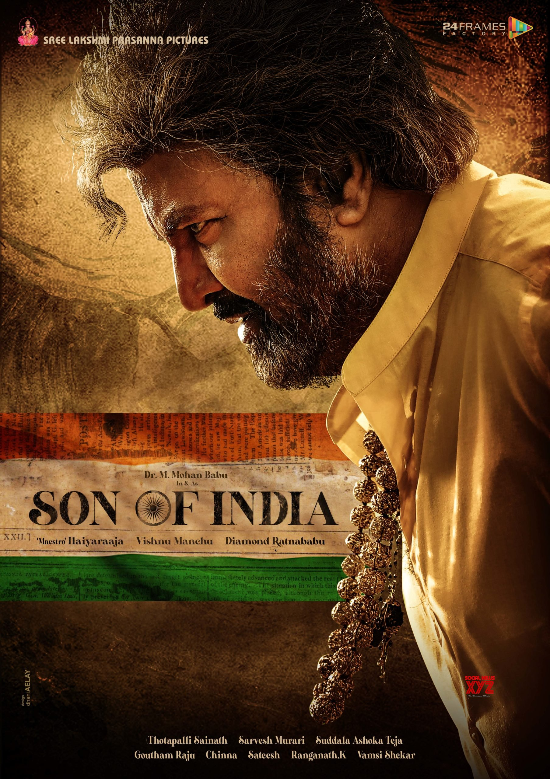 Dr Mohan Babu's Son Of India First Look Unveiled