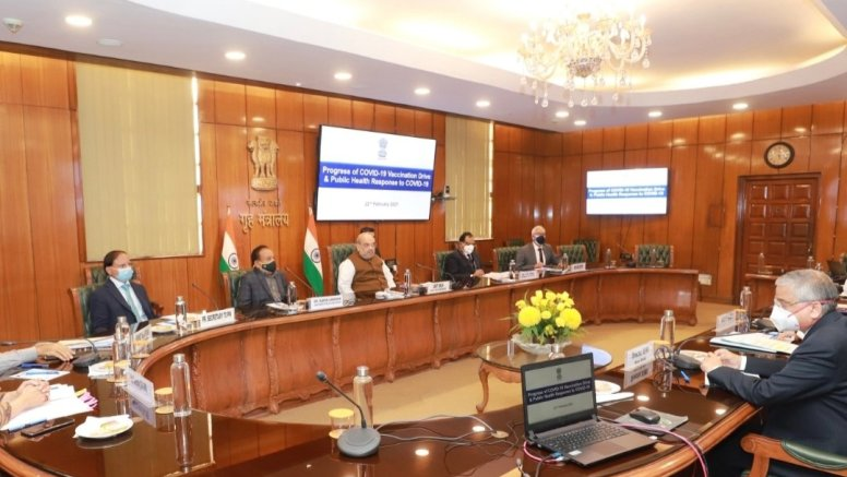 Amit Shah reviews status of Covid vaccine drive