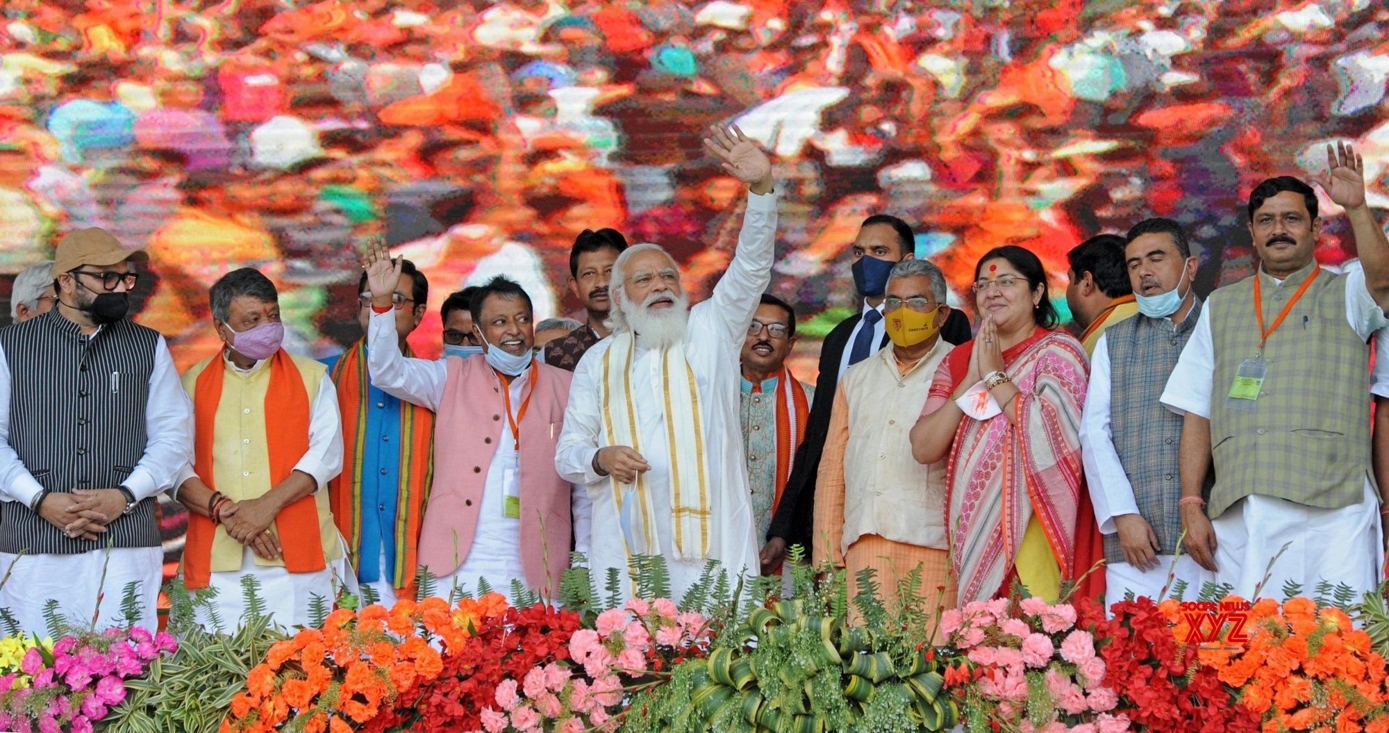 West Bengal: PM Narendra Modi during a public meeting ahead of State Assembly Election at Hooghly district in West Bengal on Monday 22nd February 2021 #Gallery