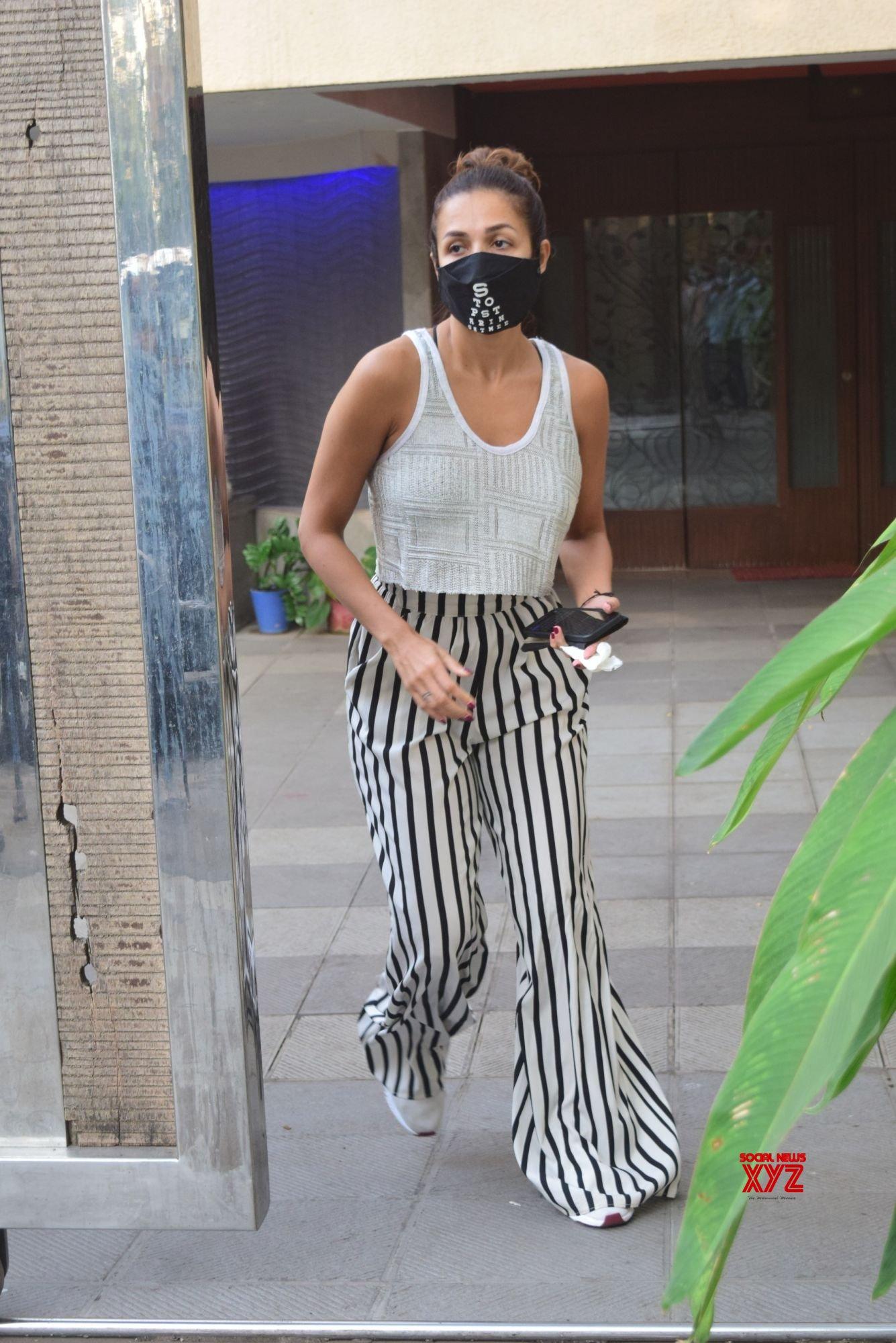 Actress Malaika Arora Spotted At Clinic In Bandra - Gallery