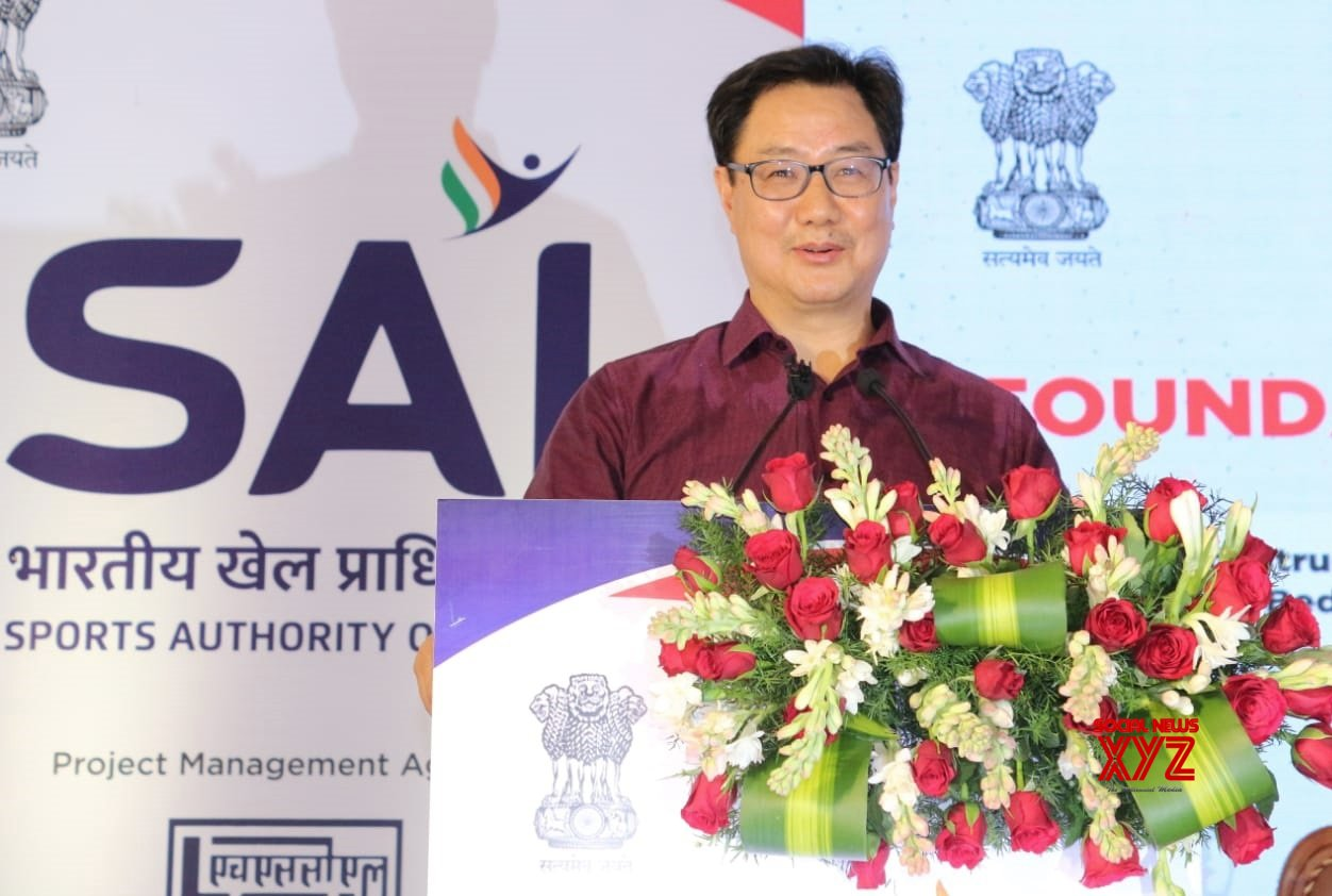 Bengaluru: Kiren Rijiju, Minister of State (I/C) Youth Affairs and Sports inaugurating laying foundation stone for the the construction of 330 bedded hostel, Synthetic Athletic track and Up - gradation of Kitchen and Dining hall a at SAI (Sports Authority of India), also seen are Minister Narayan Gowda and others , in Bengaluru on Monday 22nd - February 2021. #Gallery