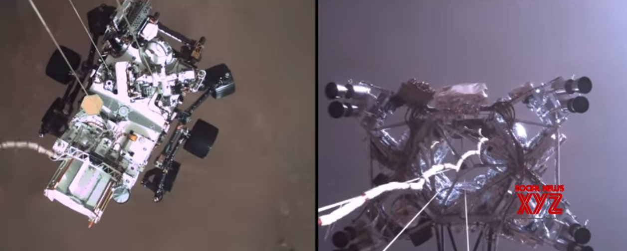 NASA releases audio from Mars, video of Perseverance landing
