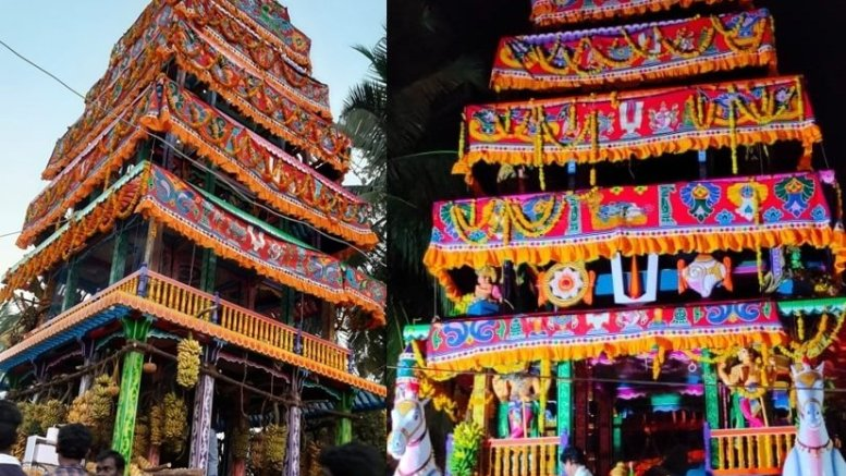 New chariot at Antarvedi evokes mixed responses from devotees