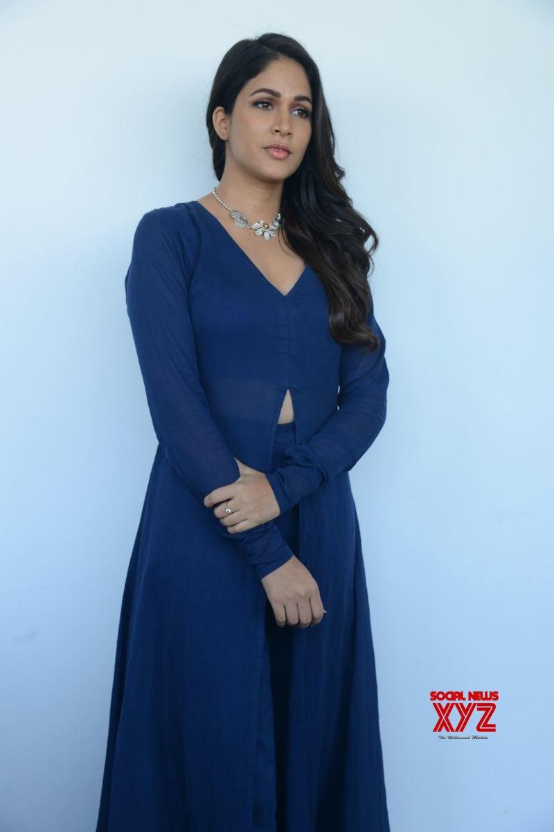 Actress Lavanya Tripati Stills From Chavu Kaburu Challaga Movie Song Launch Press Meet